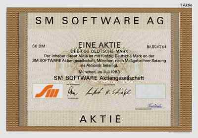SM Software AG 1983 München Micro Computer Atari Apple Hardware 50 Deutsche Mark