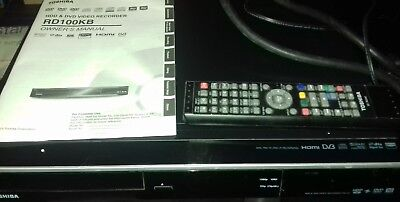 Black Toshiba HDD & DVD video recorder + Freview
