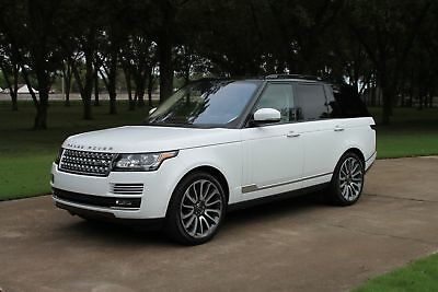 2017 Land Rover Range Rover Supercharged V8 Autobiography MSRP $146631 One Owner Perfect Carfax Exec Rear Seats TV/DVD 22's MSRP New $146631