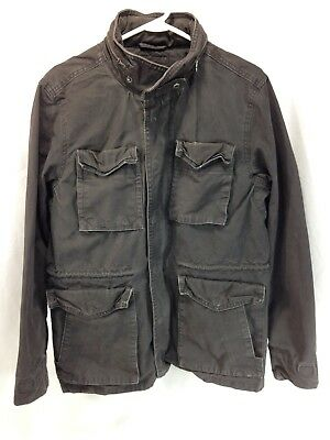 Gap M65 Flight Coat Jacket Military Field Mens Medium Faded Black 100% Cotton