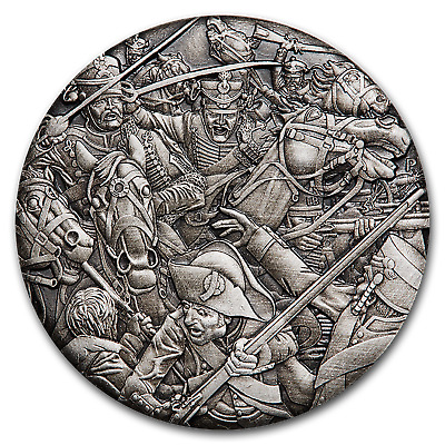 2018 Tuvalu 2 oz Silver Hussars Warfare (HR) - SKU#176379