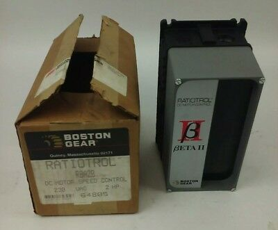 Boston Gear Ratiotrol, Rba2B, Dc Motor Speed Control, 230V, 2Hp,50/60Hz,new,rba2