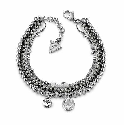 GUESS Uptown Chic Bracelet S Armband Accessoire Silver Silber Neu