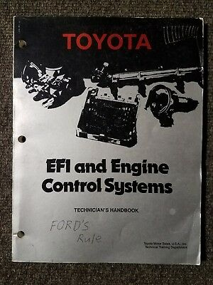 Toyota EFI and Engine Control Systems: Technicians Handbook 1986 Paperback