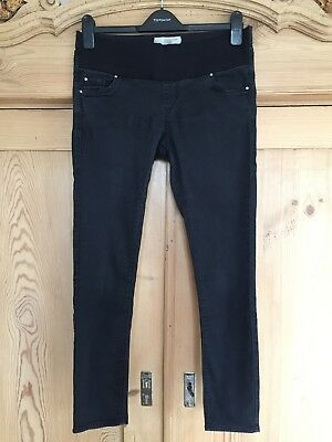 * TOPSHOP MATERNITY LEIGH Skinny Jeans Under Bump Black UK Size 10 Short *