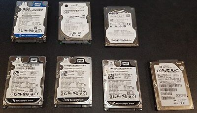 Lot Of 19, 160GB SATA 7200RPM and 5400RPM 2.5 Inch Mixed Brands Hard Drives