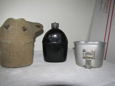 WW2, WWII, Original, U.S. Army Canteen, Cup & Cover ALL dated 1941 & 1942
