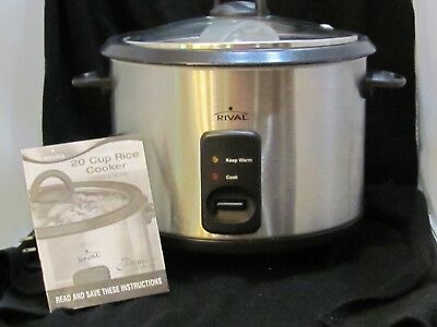 Rival 10 Cup Rice Cooker With Steamer Basket Whiteblack Rc101