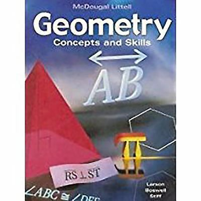 Geometry : Concepts and Skills  (ExLib, NoDust) by MCDOUGAL LITTEL