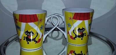 Lot De 2 Tasses Mug Chat Parisienne La Chaise Longue