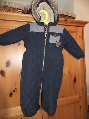 Baby boys hooded snow suit by Next size 18 - 24 months zip fastening