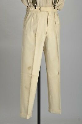 Cricketer's WW2 CC41 Utility Stamped Guards Grand Flannel Trousers. Ref IJQ