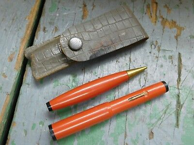 Small vintage fountain pen and mechanical pencil set