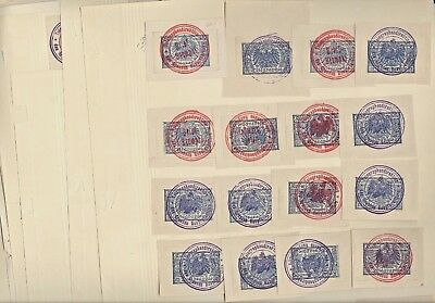 GERMANY, Excellent Assortment of OLD Telegraph Stamps hinged on pages