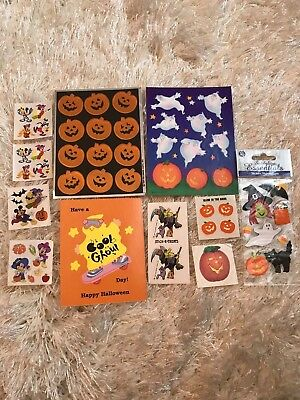 Vintage Halloween stickers sheets Hallmark and Sandylion lot 80's 90's
