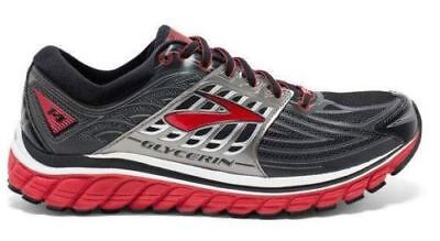 bfe7d8c640a44 Brooks Glycerin 14 Men s Running Shoe Black Red Anthracite Silver Size 7