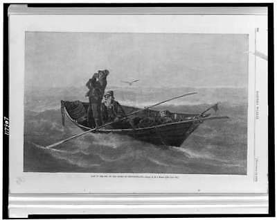 Photo:Lost in Fog,Banks of Newfoundland,Fishermen in Dory,1879,Fishing