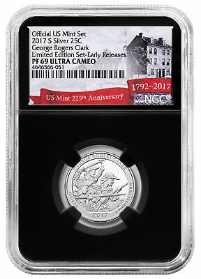 2017-S Silver George Rogers Clark Limited NGC PF69 UC ER Black 225th SKU50317