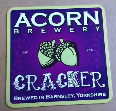 ACORN brewery CRACKER cask ale beer pumpclip badge front pump clip Yorkshire