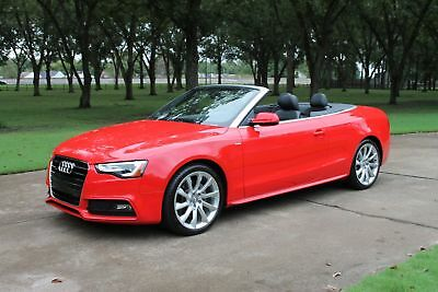2016 Audi A5 Cabriolet Convertible Premium Plus  MSRP $58475 One Owner Perfect Carfax Tech Pkg Comfort Pkg Premium Plus MSRP $58475