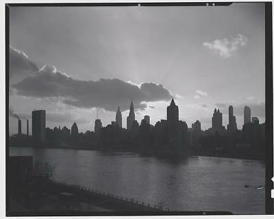 Skyline from City Hospital,New York City,NYC,Cityscape,Gottscho-Schleisner
