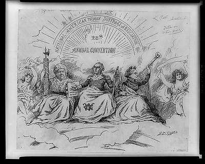 The apotheosis of suffrage,Elizabeth Cady Stanton,George Washington,1896