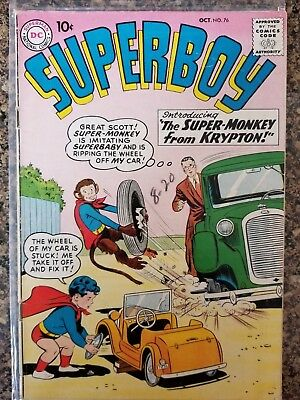 Superboy #76 - The Super-Monkey 1st appearance