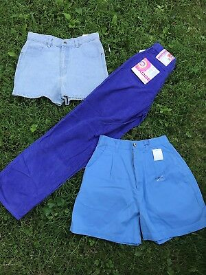 Lot of 3 Vintage Kids Corduroy Trousers Pants Shorts Badge Horizon sz 16