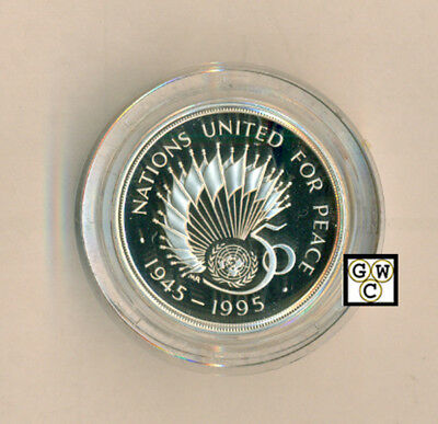 1945-1995 UK  50th Ann. of the United Nations Silver proof 2 pound Coin (OOAK)