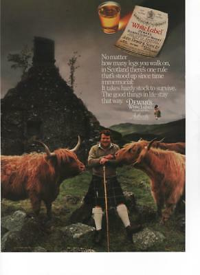 1987 - White Label Dewar's - Hardy Stock In Scotland - Vintage Print Ad