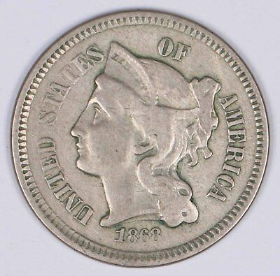 1868 3-Cent Copper-Nickel Piece 3C