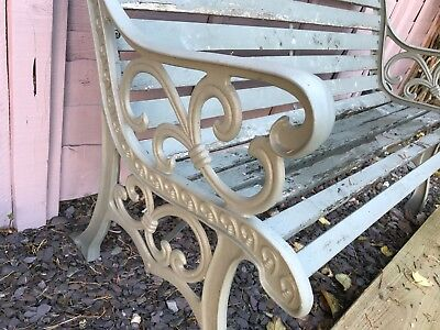 Cast Iron Bench Painted