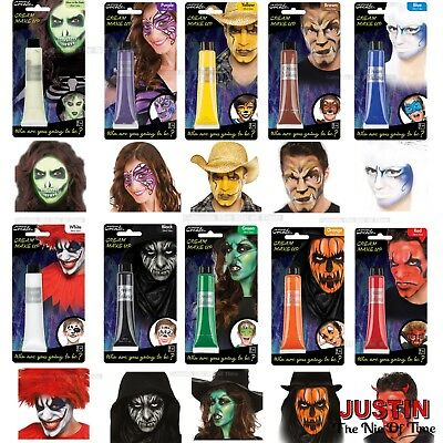 Halloween Face Paint Make Up Cream Trick or Treat Kids Fancy Dress Party 28ml