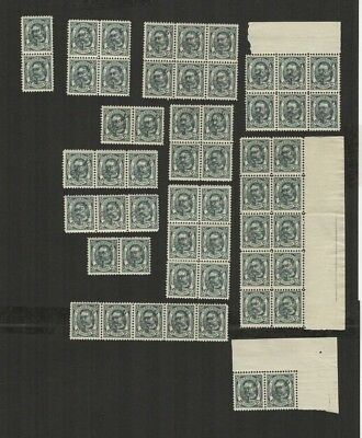 OCT 127 Luxembourg - G.D. Guillaume OFFICIEL 12.5c. MNH part sheets of stamps