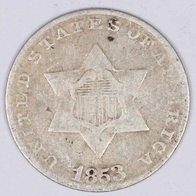 1853 3-Cent Silver Piece 3CS