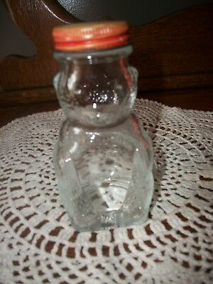Vintage Domino Sugar 'n Cinnamon Glass Bear Shaker - Mr. Bear's a Bank, Too!