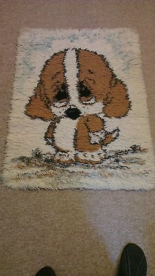 """Children's Rug Cute with a doggy picture soft pile  (W) 27""""x (L) 36"""""""