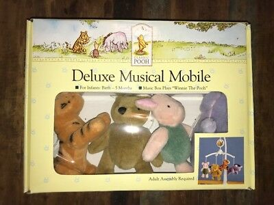 """Disney Classic Pooh Deluxe Musical Mobile 2002 Music Box plays """"Winnie The Pooh"""""""