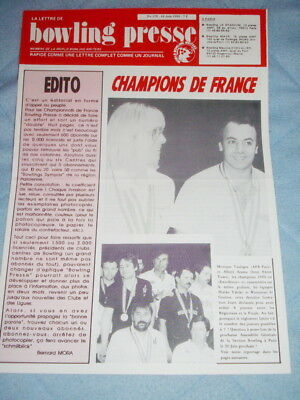 BOWLING PRESSE n°176 Juin 1990 - CHAMPION DE FRANCE - World Bowling Writers