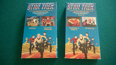 Star Trek The Animated Series Volume 2 And 5 Vhs Videotape Lot Excellent!!