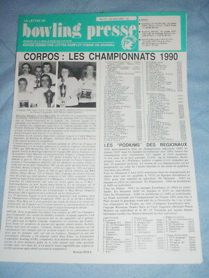 BOWLING PRESSE n°171 Avril 1990 - World Bowling Writers - Les Championnat CORPOS