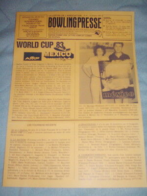 BOWLING PRESSE n°41 Oct. 83 - WORLD CUP MEXICO