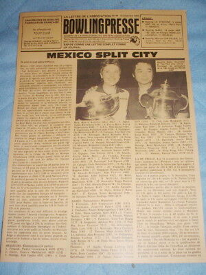 BOWLING PRESSE n°44 Dec 83 - BAKER & YOU TIEN CHU Winner Coupe du Monde MEXICO