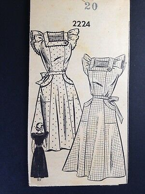 Vintage Sundress Pattern #2224, 1950s, Size 20, ruffled short sleeves, mailorder