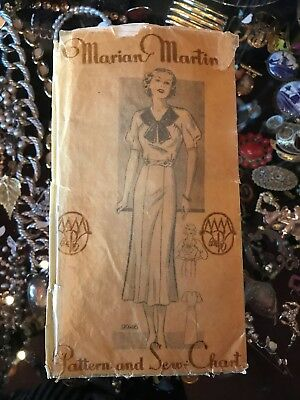 Marion Martin Sewing Pattern 1940S Dress Uncut 9946 Size 16 34Bust