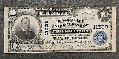 BROAD STREET NB of Phila CH# 11539 - 1902 $10.00 PHILADELPHIA NATIONAL BANK