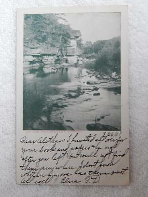1907 Photo Postcard Zumbro River MN Minnesota Rochester Postmark