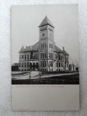 1906 Photo Postcard Watonwan Court House St. James MN Minnesota