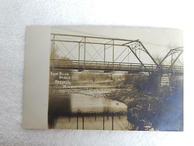 1907 RPPC Postcard Root River Bridge Preston MN Minnesota Scarce