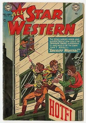 All Star Western #74 VG+ 4.5 ow/white pages  Trigger Twins  DC  1953  No Reserve